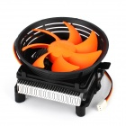 Q100 2000RPM CPU Heatsink + Cooling Fan - Black + Orange