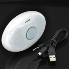 MZ800 Portable Oval Style Bluetooth V2.0 Speaker - White