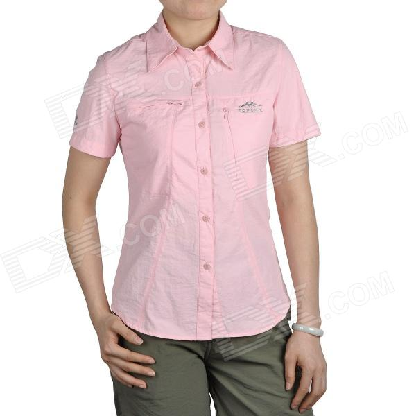 Topsky Outdoor Quick Dry Short Sleeves Shirt for Women - Pink (Size-M)