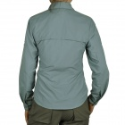 Topsky Outdoor Quick Dry Long Sleeves Shirt for Women - Grey Blue (Size-XXL)