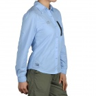 Topsky Outdoor Quick Dry Long Sleeves Shirt for Women - Sky Blue (Size-M)