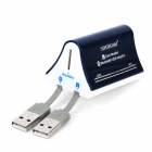 SY-695 USB 2.0 Multi-Card Reader + Bluetooth V2.0 Adapter Combo - Black + White