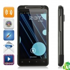 "X310e Android WCDMA 4,0 Bar Telefon W / 4,3 ""Kapazitive, 8.0MP Kamera, Wi-Fi-und FM - Black"