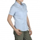 Topsky Outdoor Quick Dry Short Sleeves Shirt for Women - Light Blue (Size-L)