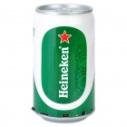 Novelty Beer Can Style MP3 Player Speaker w/ FM / TF - Green + White