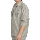 Topsky Outdoor Quick Dry Detachable Long Sleeves Shirt - Khaki (Size-XXL)