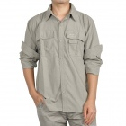 Topsky Outdoor Quick Dry Detachable Long Sleeves Shirt - Khaki (Size-XXXL)