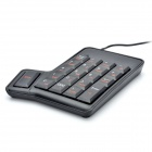 Multi-Function 20-Key USB Numeric Keypad for Laptops - Black