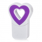 Fashion Heart Style USB 2.0 Micro SD / TF Memory Card Reader - White + Purple
