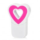 Fashion Heart Style USB 2.0 Micro SD / TF Memory Card Reader - Pink + White