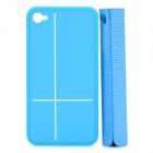 Creative Protective PC Case with Magnetic Back Cover Mount Stand Holder for Iphone 4 / 4S - Blue