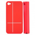 Creative Protective PC Case with Magnetic Back Cover Mount Stand Holder for iPhone 4 / 4S - Red