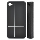 Creative Protective PC Case with Magnetic Back Cover Mount Stand Holder for Iphone 4 / 4S - Black