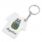 Argentina Logo Soccer Shirt Style Keychain with Yellow Light - White (3 x LR41)