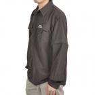 Topsky Outdoor Quick Dry Detachable Long Sleeves Shirt - Coffee (Size-XL)