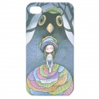 Cartoon Girl Pattern Protective Plastic Back Case for iPhone 4 / 4S