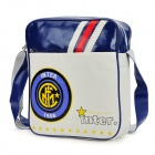 FC Inter Mailand Logo-Art PU-Leder One Shoulder Bag - weiß + blau