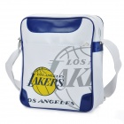 NBA Los Angeles Lakers Logo-Art PU-Leder One-Shoulder-Bag - White