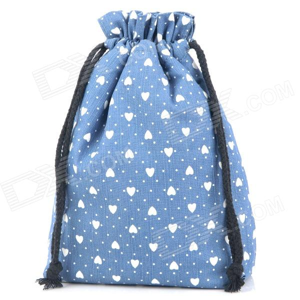 Soft Padded Anti-Static Drawstring Closure Carrying Bag - Blue