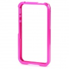 Protective Aluminum Alloy Bumper Frame for iPhone 4 / 4S - Deep Pink