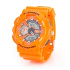 Waterproof Analog & Digital Quartz Wrist Watch w/ Light - Orange (1 x CR2016 + SR626SW)