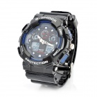 Multi-function Waterproof Analog & Digital Quartz Wrist Watch - Black (1 x CR2016 + SR626SW)
