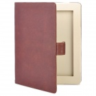 Stylish 360-Degree Rotating Swivel Protective PU Leather Case for Ipad 2 / New Ipad - Brown