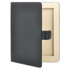 Stylish 360-Degree Rotating Swivel Protective PU Leather Case for iPad 2 - Black