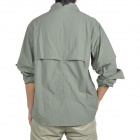 Topsky Outdoor Quick Dry Detachable Long Sleeves Shirt - Army Green (Size-XXXL)