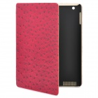 Ostrich Pattern Protective PU Leather Case für iPad 2 - Rot