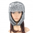 Topsky Outdoor Ear Protection Cold-proof Wind Snow Hat - Grey