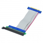 PCI Express PCI-E 8X to 16X Riser Card Extension Flexible Ribbon Cable for 1U 2U