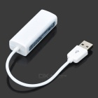 External USB 2.0 to Ethernet RJ-45 Adapter - White