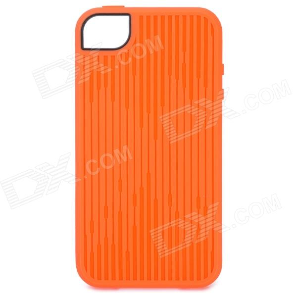 Stylish Protective TPU Case for Iphone 4 / 4S - Orange stylish protective tpu back case cover for iphone 4 4s purple