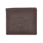 Stylish NBA Lakers Logo Genuine Leather Wallet - Coffee