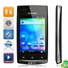 "S12 Android 2.3 WCDMA Bar Phone w/ 3.5"" Capacitive, Wi-Fi, TV and Dual-SIM - Black"