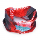 Multifunction Outdoor Sports Seamless Head Scarf with FC Liverpool Logo - Red + Black + White