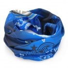 Multifunction Outdoor Sports Inter Milan Logo Seamless Head Scarf - Blue + White