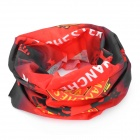 Multifunction Outdoor Sports Manchester United Logo Seamless Head Scarf - Red + Black + Yellow