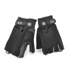 MC Tatical Outdoor Half Finger Gloves - Black (Pair/Size-XL)
