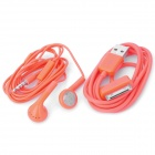 Earphone with Microphone + USB Data Cable for iPhone 4 / 4S / iPad / The New iPad - Orange