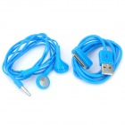 Earphone with Microphone + USB Data Cable for iPhone 4 / 4S / iPad / The New iPad - Blue