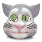 Cute Talking Tom Cat Head Style Doll Coin Bank - Grey