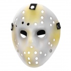 Stylish Many Holes Hollow-out Jason Mask - White + Yellow