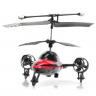 Rechargeable 3-CH R/C Flying Car with IR Controller - Black + Red