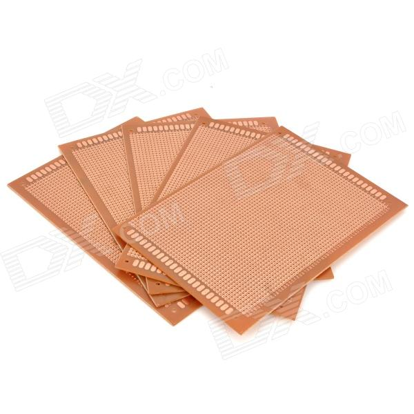 Universal DIY PCB Board Bakelite Plate - Brown (5-Piece Pack)  pcb79 1 2mm 7 x 9cm bakelite pcb circuit boards dark orange 5 pcs