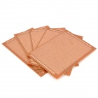 Universal DIY PCB Board Bakelite Plate - Brown (5-Piece Pack)