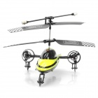 Rechargeable 3-CH R/C Flying Car with IR Controller - Black + Yellow