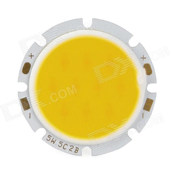 5W 450LM 3200K Warm White Light COB LED Round Module (DC 15~18V)Leds<br>Model6254MaterialAluminum alloyColorYellow,SilverQuantity1Emitter TypeLEDPower5 WColor BINWarm WhiteRate VoltageDC 15~18 VLuminous Flux400~450 lmColor Temperature2800~3200 KApplicationSpot light, LED light bulb, ceiling light bulb DIY projectPacking List1 * LED module<br>
