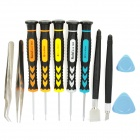 11-in-1 Screwdriver Tweezers Opening Tool Disassembly Repair Kit for Iphone / Sharp